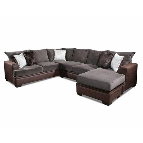American Furniture Manufacturing - Mocha Chaise Sofa Sectional