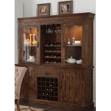 Normandy 2 piece China with Wine Cabinet