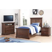 Panel Twin Bed, Hazelnut