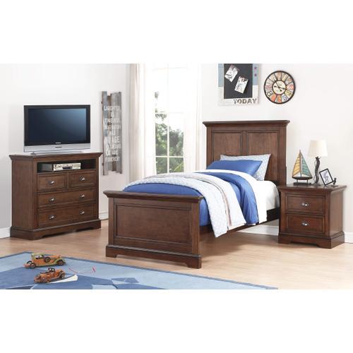 Panel Twin Bed, Hazelnut