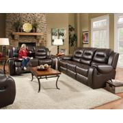 Jamestown Umber Reclining Sofa, Loveseat, and Rocker Recliner Product Image