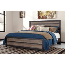 Harlinton- Warm Gray/Charcoal- King Panel Bed