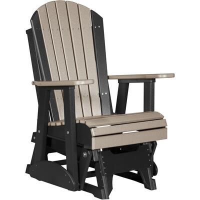 Adirondack Glider 2' Weatherwood and Black