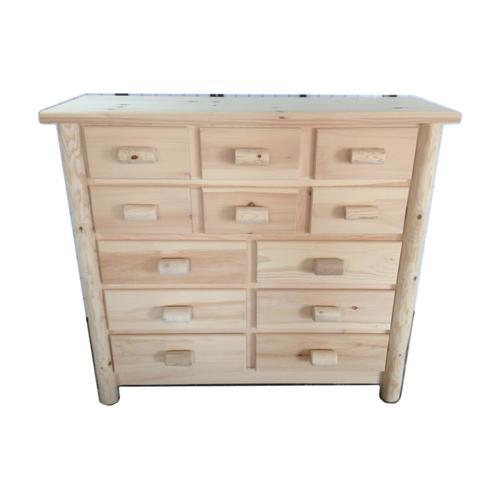 12-Drawer Rustic Dresser