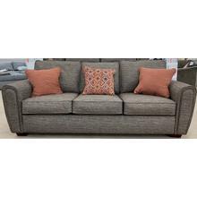 Wood House Sofa - Mason Pepper - 2 Pillows Drumcliff/1 Thesaurus