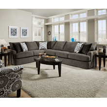 2 Piece Corner Sectional - Grandstand Flannel
