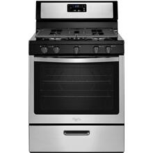 Whirlpool 5.1CF Stainless Steel Freestanding Gas Range