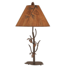 Iron Pine Tree Table Lamp