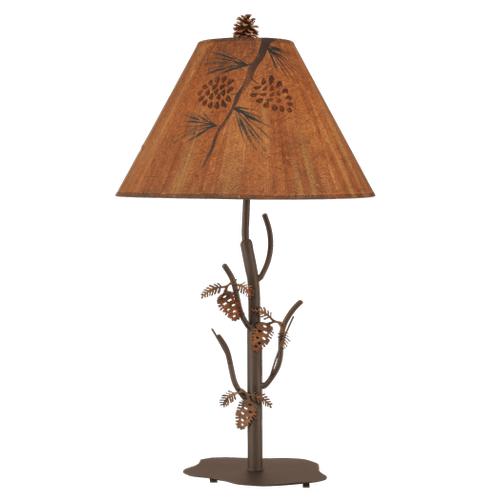 Iron Pine Tree Table Lamp