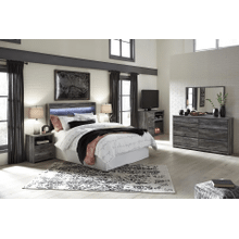 Baystorm- Gray- Dresser, Mirror, Media Chest, Nightstand, Queen Panel Bed