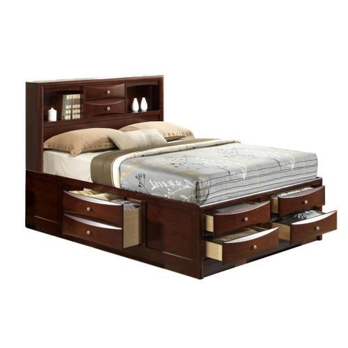 CrownMark Emily Dark Cherry Queen Bed, B4265