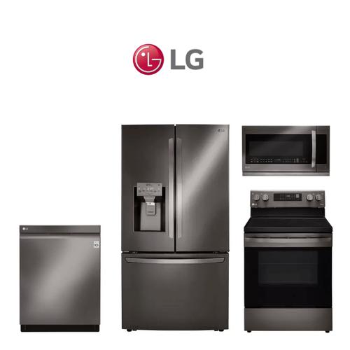 LG 4 Piece Black Stainless Kitchen Package. Price Valid Thru 6/20/21.