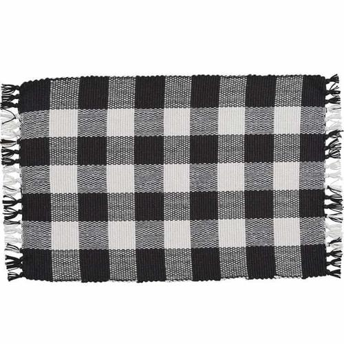 Wicklow Check Black Placemat
