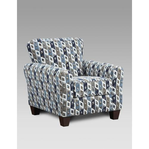 3900 Anna Blue Sectional and Accent Chair
