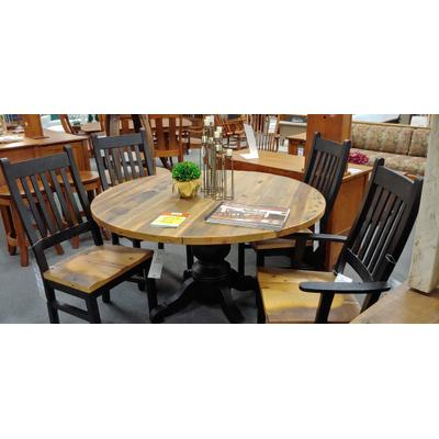 """See Details - Kowan Reclaimed Barnwood 54"""" Round Table & Chairs"""
