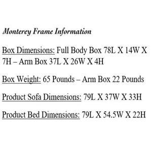 Mattress Discount Southgate - Monterey Black Futon Frame
