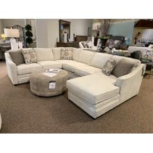 F9 Sectional with Chaise Lounge in Brecken 10 Fabric