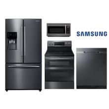 Samsung Black Stainless Kitchen w/ French Door Refrigerator