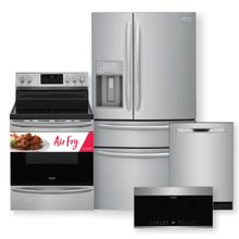FRIGIDAIRE GALLERY 21.8 Cu. Ft. Counter-Depth French Door Refrigerator & 30'' Freestanding Electric Range with Air Fry Package