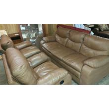 Reclining sofa and 2 recliners