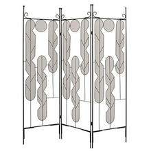 Iron Art Screen 3 Panel Room Divider
