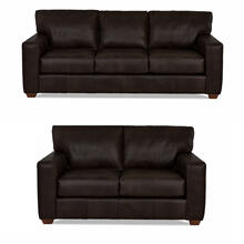 Sydney Java All Leather Sofa & Loveseat