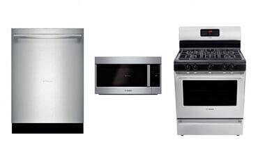 Bosch Stainless Steel 3-Piece Kitchen Package (Gas)