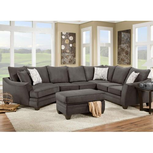 American Furniture Manufacturing - Flannel Seal Sectional Sofa