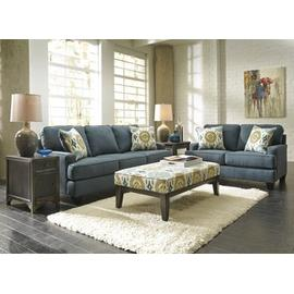 CLEARANCE Brileigh Teal Sofa, Loveseat, & Ottoman