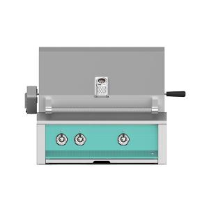 """Hestan - Aspire By Hestan 30"""" Built-In U-Burner, Sear and Rotisserie Grill NG Turquoise"""