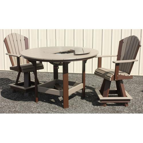 "54"" Round Dining Table With Bowl"