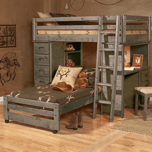 Trendwood - Bronco Bunkhouse Loft Bed Twin