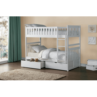Galen Bunk Bed Twin on Twin with Storage Drawers