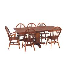 Mission Straight Cut Pedestal Dining Set