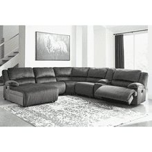 Clonmel - Charcoal - 1 Power Recliner 1 Manual Recliner 1 Power Chaise Sectional with Console