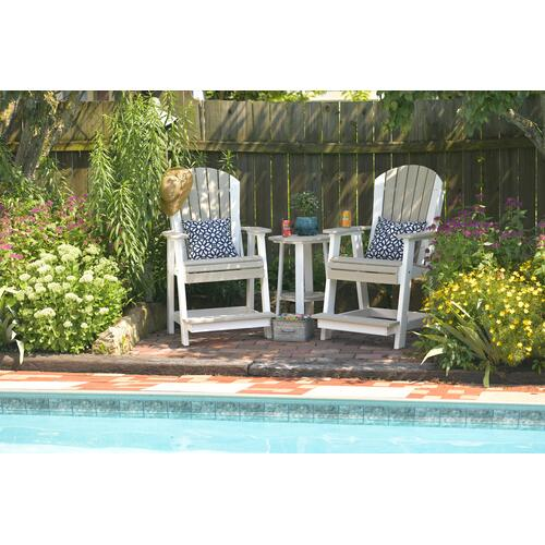 Adirondack Balcony Chair Aruba Blue and White