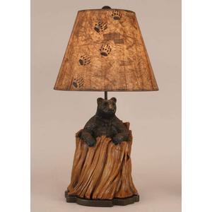 Coast Lamps - Bear In Stump Table Lamp