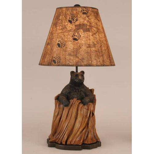 Bear In Stump Table Lamp