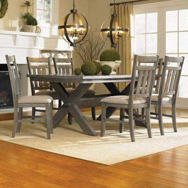 Turino 7 Piece Dining Set - Gray