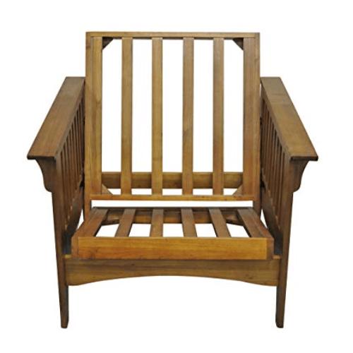 """Gold Bond Futons - Boston Futon Frame - 28"""" chair with ottoman"""