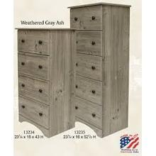 Perdue Narrow Chest - 4 Drawer - Available in 4 Colors