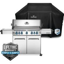 See Details - Prestige 665 Grill with Side & Rear Burners with Grill Cover
