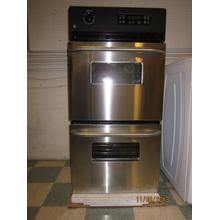 "GE 24"" STAINLESS STEEL  DOUBLE WALL OVEN"