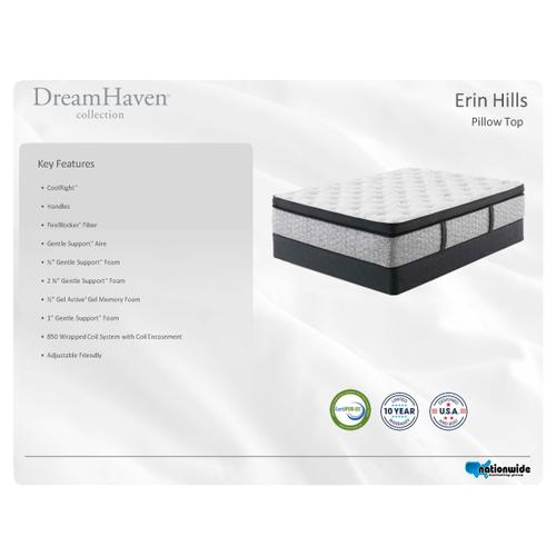 ERIN HILLS Euro Pillow Top
