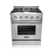 "Discount & Affordable 30"" Professional Gas Range with 4 burners, Infrared Oven Burner, Convection Oven, and Cast Iron Flat Cooking Grates"