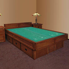 Mission Creek 5-Board Waterbed With Casepieces Available in King and Queen