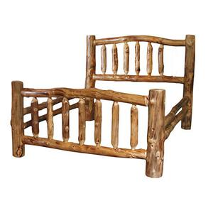 Corral Queen Bed Natural Log