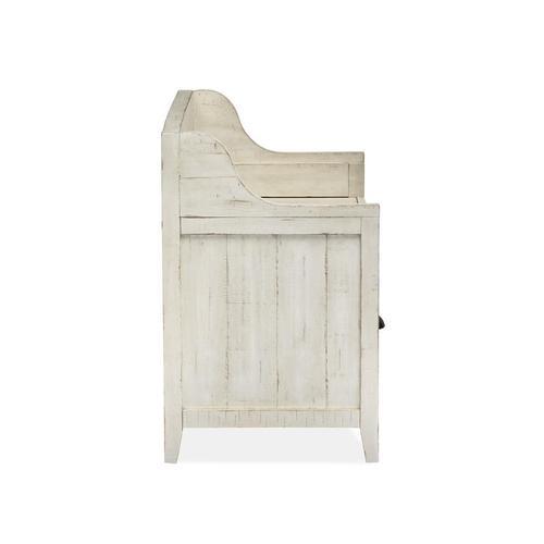 Magnussen Home - Mosaic Storage Bench in Alabaster Finish