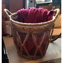 Metal Burlap Baskets