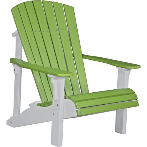 Deluxe Adirondack Chair Lime Green and White